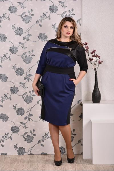 Фото Синее платье 0181