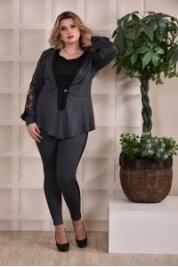 Фото Темно-серый костюм (тройка) 0252-3