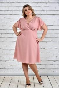 Фото Розовое платье 0283-2