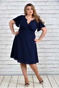 Фото Синее платье 0283-3