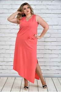 Фото Коралловое платье 0299-1