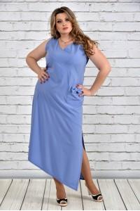Фото Голубое платье 0299-3