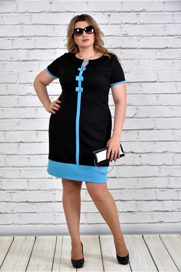 Фото Трикотажное платье 0307-1