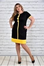 Фото Черное с желтым красивое платье 0307-2
