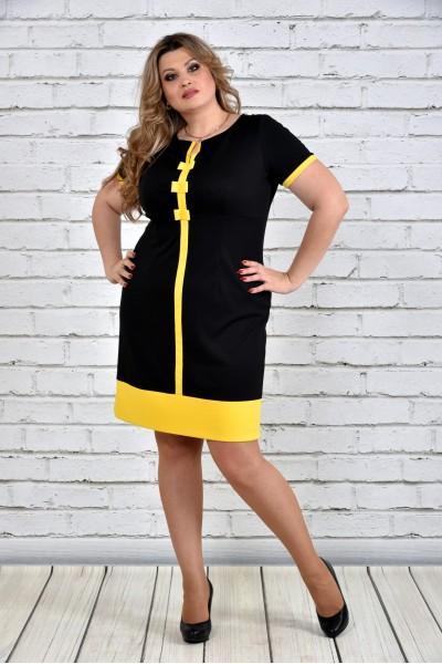 Фото Чорна з жовтим сукня 0307-2