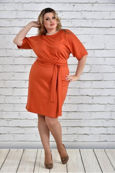 Фото Оранжевое платье 0325-1