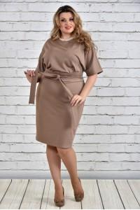 Фото Бежевое платье 0325-2