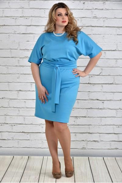 Фото Голубое платье 0325-3