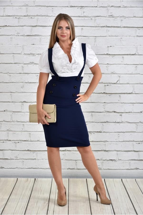 Фото Синее платье 0327-1