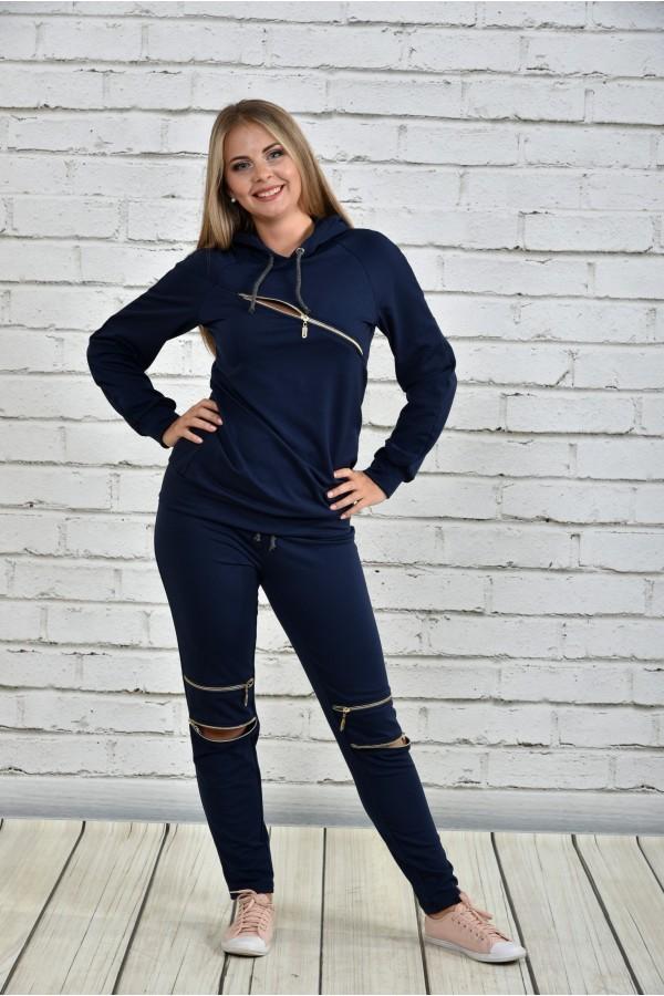 Синій спортивний костюм 0336-2