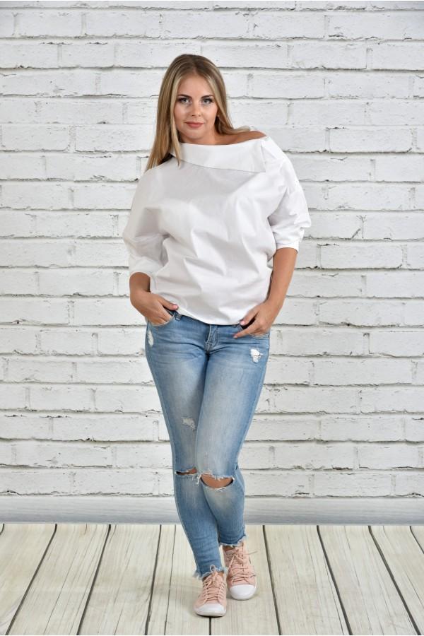 Фото Біла блузка 0341-3