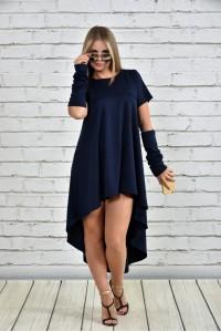 Фото Синее платье 0342-1