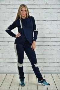 Фото Темно-синий спортивный костюм 0338-2
