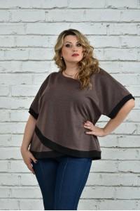 Фото Коричневая блуза 0355-2