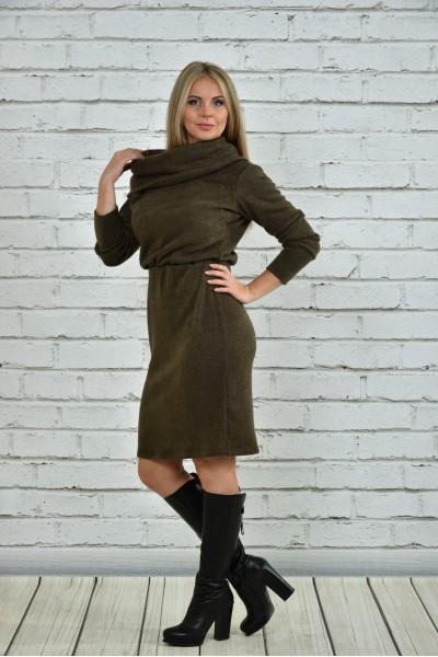 Фото Сукня кольору хакі 0367-1