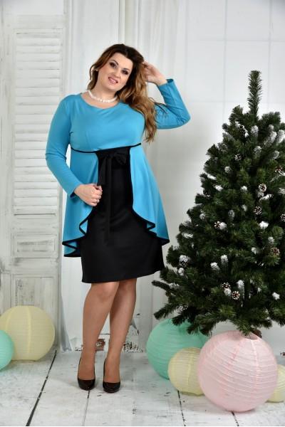 Фото Голубое платье 0377-2