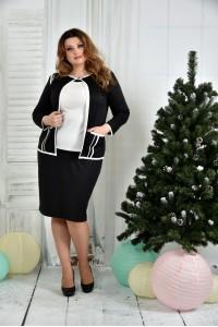 Фото Костюм 0391-2-2 Черный жакет + Черная юбка (на фото с блузкой 0392-2)
