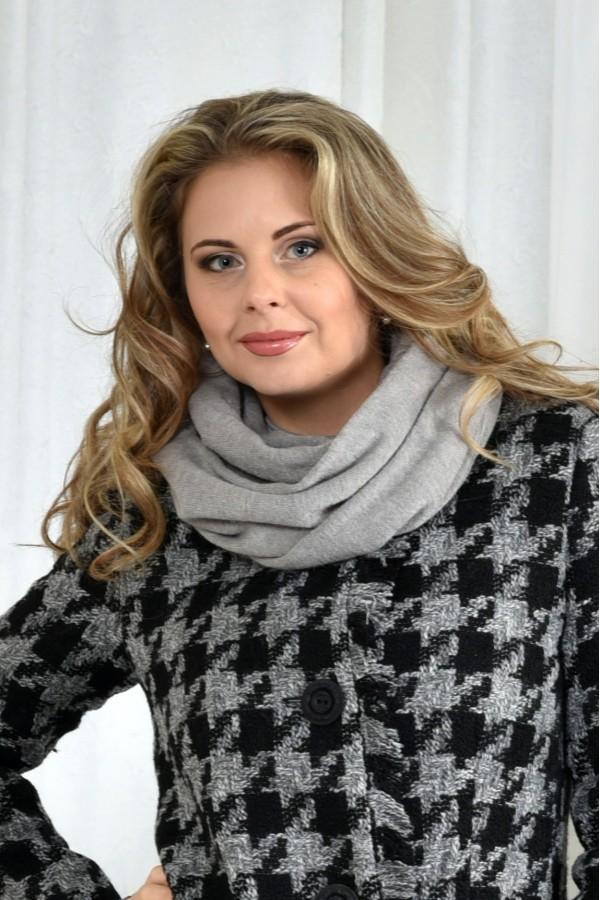 Фото Серый шарф 001-2