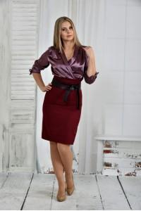 Фото Бордо платье 0402-1