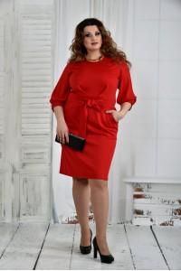 Фото Красное платье 0403-1