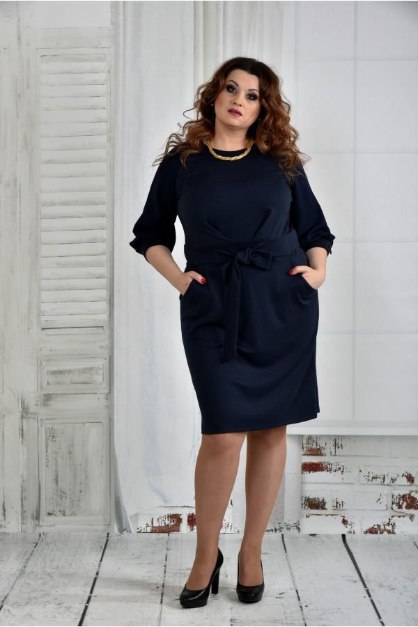 Фото Синее платье 0403-2