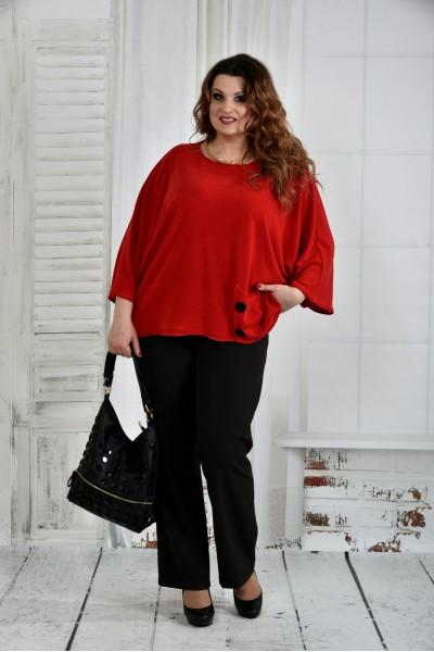 Фото Красная блуза 0412-2