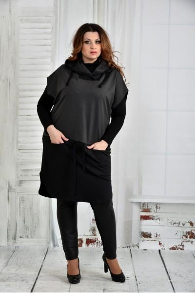 Фото Черная блузка 0413-3