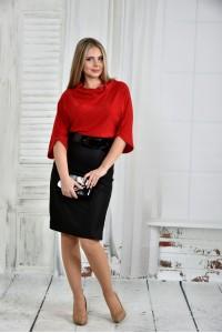 Фото Красное платье 0426-1 (пояс в комлекте)