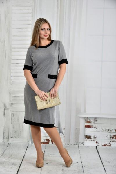 Фото Серое платье 0434-2