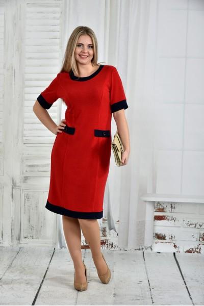 Фото Красное платье 0434-3