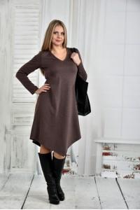Фото Коричневое платье 0437-2