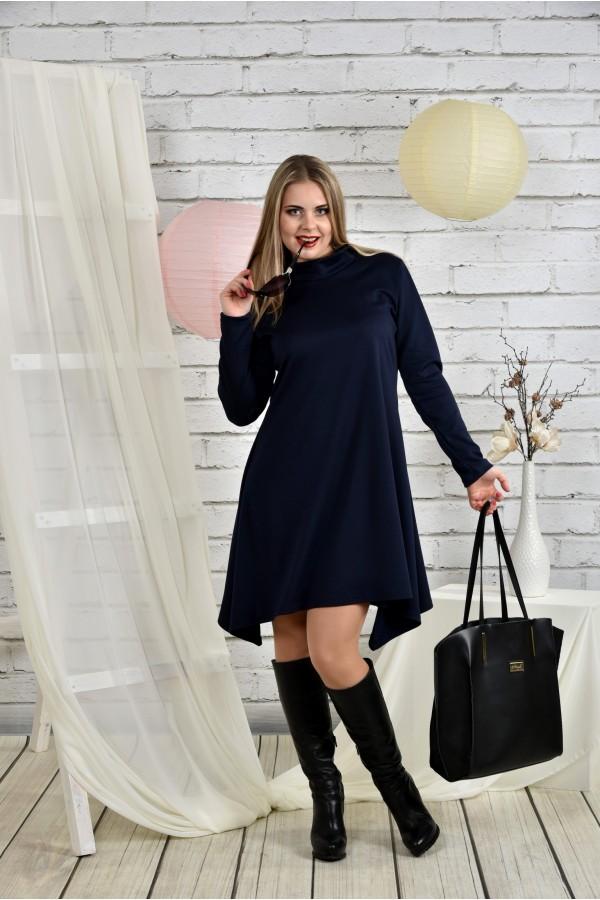 Фото Синє жіноче плаття 0433-3