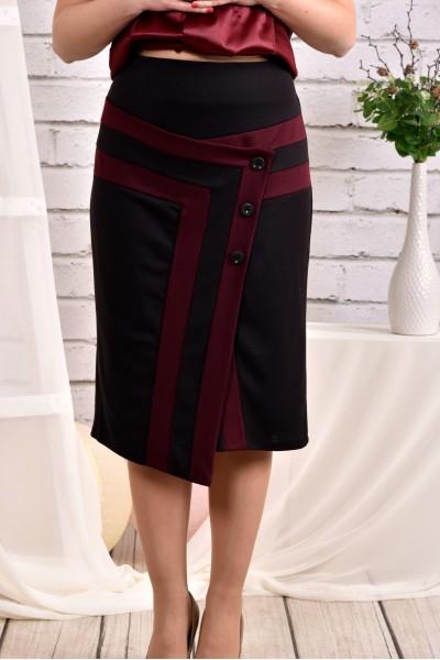 Фото Бордовая юбка 0458-1
