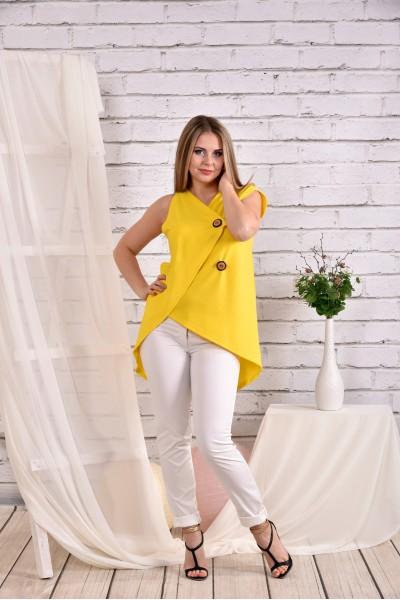 Фото Желтая блузка 0465-2 (брюки 010-4 отдельно)