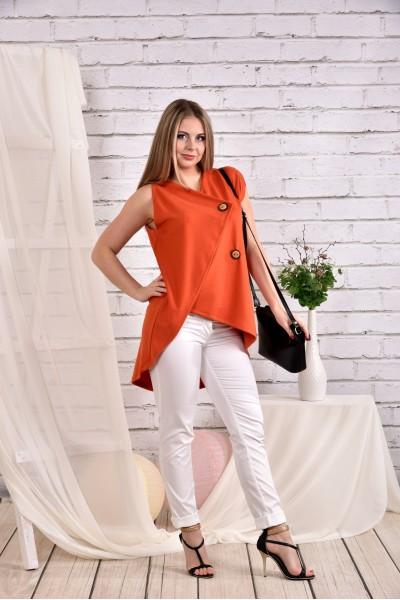 Фото Оранжевая блузка 0465-3 (брюки 010-4 отдельно)