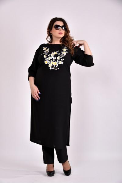Фото Чорна блузка-туніка 0496-2