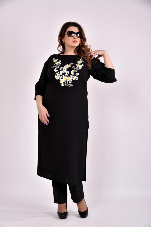 Фото Черная блузка-туника 0496-2