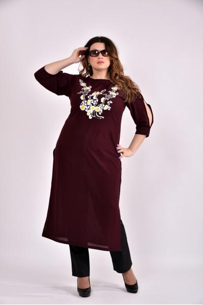 Фото Бордовая блузка-туника 0496-3
