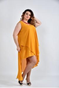 Фото Горчичное платье 0515-1