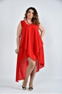 Фото Яскраво-червона сукня 0515-2