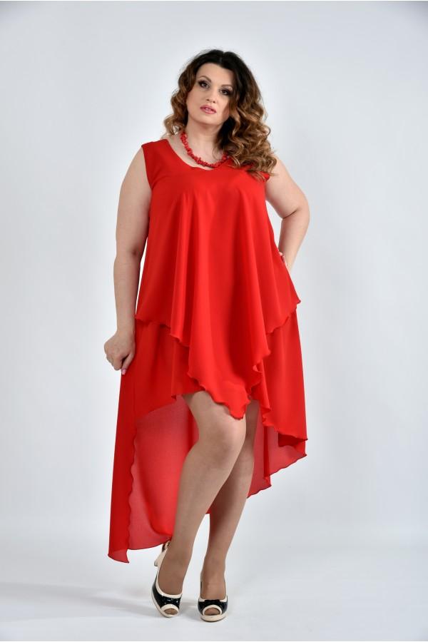 Фото Алое платье 0515-2