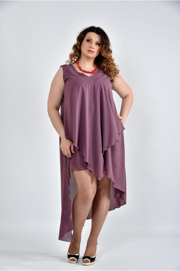 Фото Сливове платье 0515-3