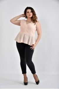 Фото Нежная персиковая блузка 0524-1