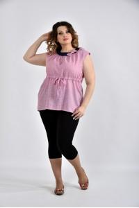 Фото Сиреневая блузка с сердечками 0526-2