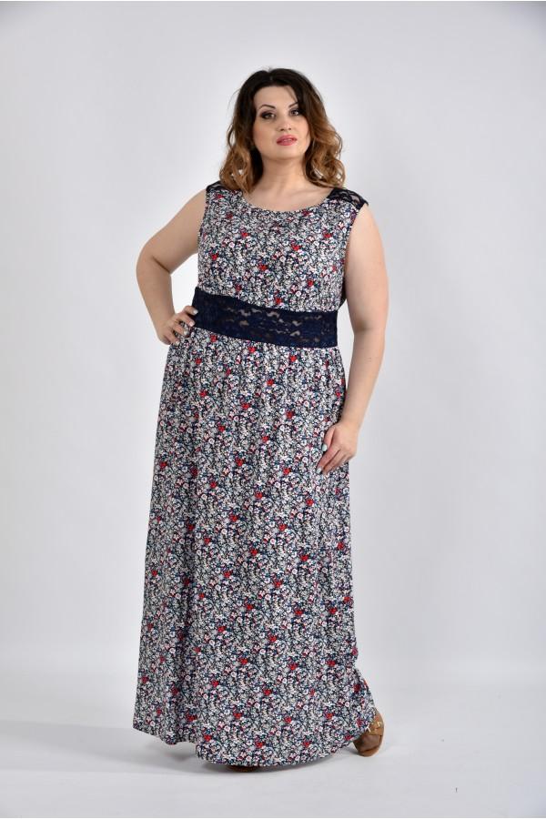 Фото Цветное платье в пол 0531-1