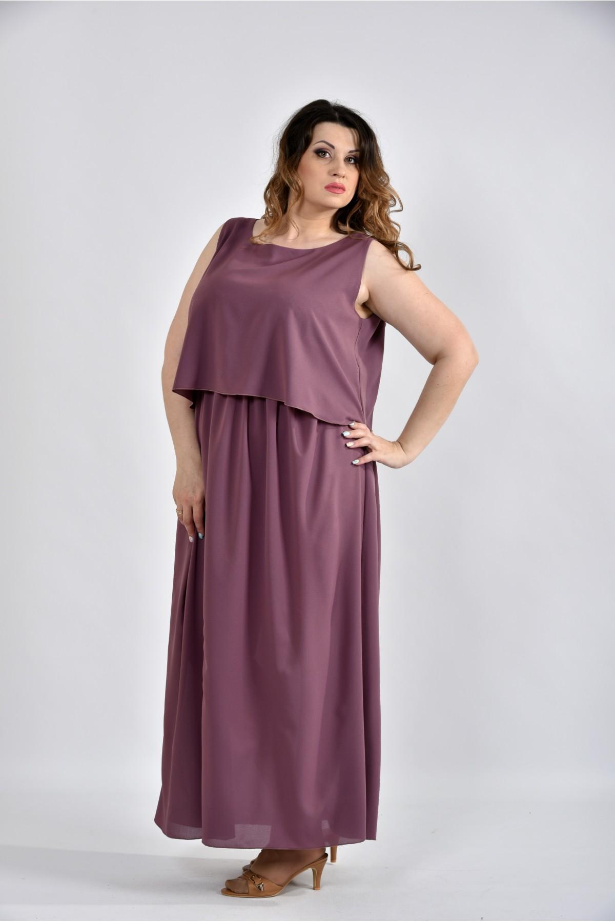Сливовий літнє плаття в підлогу з 42 до 74 розміру. Модель 0532-1 ... ee47fefc32941
