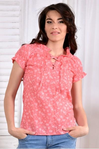 Фото Коралловая блузка 0545-2
