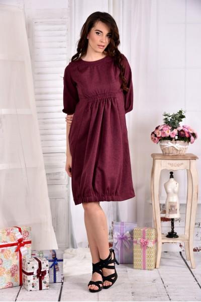 Фото сукня кольору бордо 0549-2