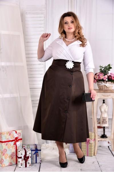 Нарядное платье ниже колена 0559-1