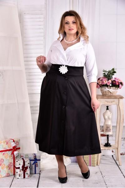 Черно-белое платье макси 0559-3